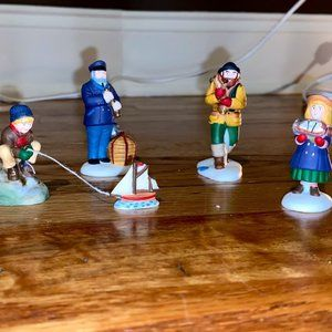 Department 56 village Sea captain and his mates